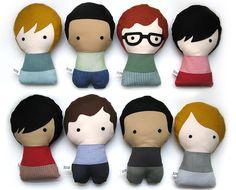 Personalized Stuffed Fabric Doll. $28.00, via Etsy.