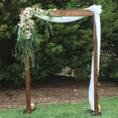 HIRE: Memphis Hire: Walnut Two-Post Timber Arch $160 with drapes