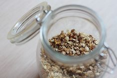 granola-vanille2 Granola, Muesli, Breakfast Snacks, C'est Bon, Raisin, Oatmeal, Salt, Sunday Morning, Cooking