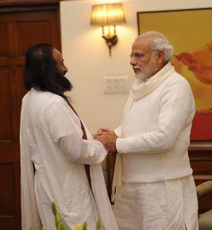 PM Narendra Modi meets Sri Sri | 29 Dec 2015