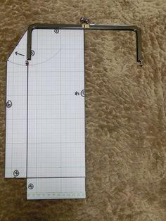 ★24センチ口金を使って、大きいバックの型紙を作ります。 の画像|がま口の作り方♪手縫いで作る初めてのがま口【手作り屋万莉】