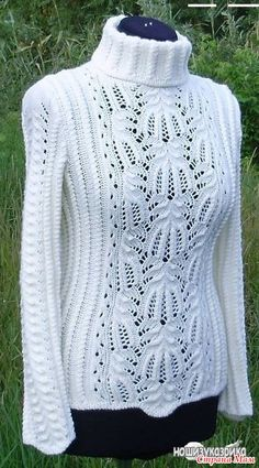 """с узором """"медвежьи лапки"""" Jumper Knitting Pattern, Knitting Patterns Free, Free Knitting, How To Look Classy, Jumpers For Women, Modest Dresses, Pullover, Knit Cardigan, Crochet Projects"""