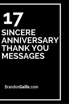 17 Sincere Anniversary Thank You Messages