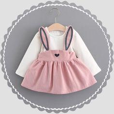 Cute Cartoon Rabbit Dress Set