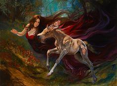 Rhiannon by Julie Bell. Original fine art fantasy oil painting by award winning artist Julie Bell. Julie Bell, Beautiful Artwork, Cool Artwork, Bell Art, Religion, Spirited Art, Boris Vallejo, Sculpture, Fantastic Art
