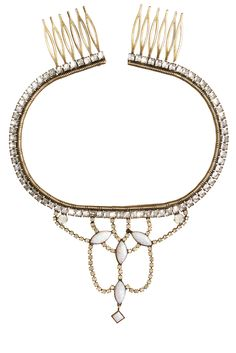 Calypso St. Barth Bridal Accessories - Helena Swarovski Crystal Embellished Headpiece