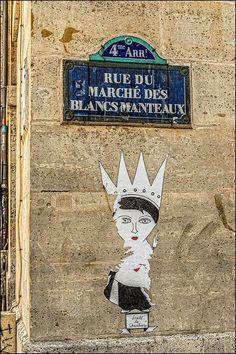 La rue du Marché-des-Blancs-Manteaux  (Paris 4ème)