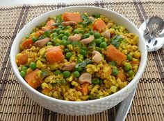 Gingery Rice #recipe: Take advantage of one of our favorite #SuperFoods -- sweet potatoes! #vegan