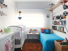 Como organizar um quarto dividido por duas crianças
