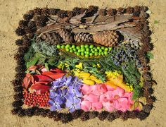 """Land Art by 2nd Graders, """"Window of Color""""; YES Fundraiser Project by cproppe, via Flickr"""
