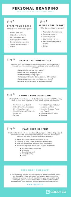 This worksheet takes the tricky process of branding and breaks it down into steps to help you build a killer personal brand. Branding Your Business, Small Business Marketing, Marketing Plan, Business Tips, Social Media Marketing, Online Business, Digital Marketing Strategy, Content Marketing, Personal Branding Strategy