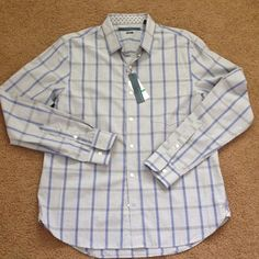 New perry ellis man shirt New with tag perry ellis slim fit shirt . Original price 69$+tax Perry ellis  Tops Button Down Shirts
