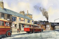 Bishop Auckland, North East England, Local Artists, Original Image, Watercolor, Track, Hotels, Painting, Watercolour