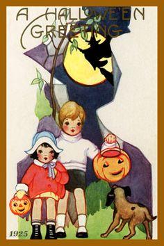 Olde America Antiques   Quilt Blocks   National Parks   Bozeman Montana : Halloween - Halloween Greeting 12c