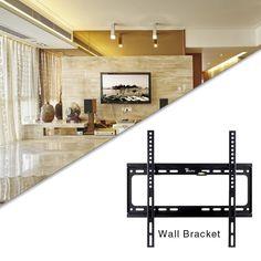 """Soporte de pared para TV universal(Led,Lcd,Plasma,3D)de 26 """"- 55"""",Diseñado para Samsung,LG,Sony,Philips,etc,Adecuado para la habitación,el salón o la cocina,Max VESA 400X400mm,Max capacidad de carga 50KG,sólo EUR17,99"""