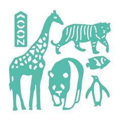 Troquel Zoo First Edition para Sizzix