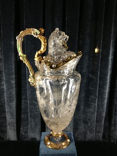 rock crystal vessels at the Treasury. Above, a goose carved in the late 16th century by the Sarachi Brothers, of Milan.