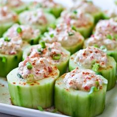 Cucumber Cups Stuffed with Spicy Crab - My Honeys Place