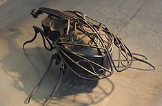 Iron Insect Speaker ...cool Iron Art by Japanese Artist Soya takeshi 昆虫型ギターアンプ|金属造形作家 征矢剛(そやたけし)