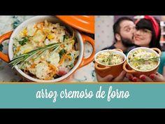 Arroz Cremoso de Forno | COZINHA PARA 2 : Cozinha para quem não sabe cozinhar. Sem fogão, sem complicação. Vídeos de receitas deliciosas, com poucos ingredientes. Tudo simples e rápido.