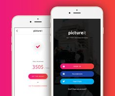 "다음 @Behance 프로젝트 확인: ""Picture it - mobile app"" https://www.behance.net/gallery/40717359/Picture-it-mobile-app"