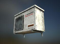 ArtStation - AirCon Unit, Ross Hildick