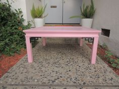 Custom Hollywood Regency Square Chinese Coffee Table in Pink and Black Los Angeles by HouseCandyLA, $250.00
