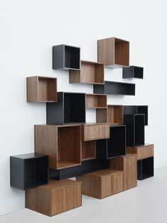 Furniture, Majestic Contemporary Book Shelving System Design Inspirations: Fancy Futuristic Modular Shelf In MDF With Plaid Design