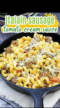 Casserole Dishes, Casserole Recipes, Pasta Recipes, Dinner Recipes, Pasta Meals, Cooking Recipes, Ham Sausage Recipe, Italian Sausage Recipes, Pasta Dishes
