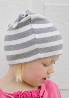 DIY Tshirt to Winter Hat Upcycle from Bugaboo