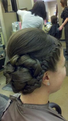 Updo with a braid