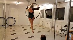 Aerial hoop freestyle performance at Prana Pole
