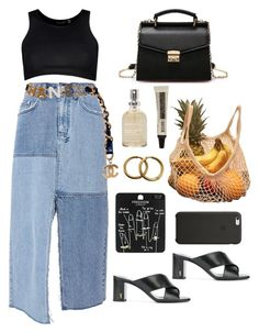 """""""market"""" by millicent4 ❤ liked on Polyvore featuring Ksubi, Yves Saint Laurent, Chanel, Boohoo, Topshop, Aesop, Sans [ceuticals] and Black Apple"""