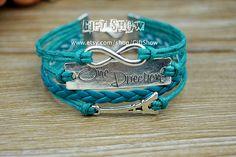 Infinity One direction Eiffel Tower Bracelet Light by GiftShow, $3.99 Fashion handmade bracelet, a gift.