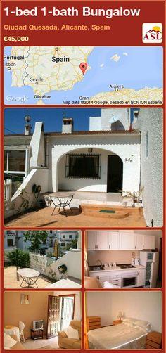1-bed 1-bath Bungalow in Ciudad Quesada, Alicante, Spain ►€45,000 #PropertyForSaleInSpain