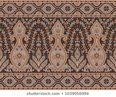 Find Seamless Traditional Indian Motif stock images in HD and millions of other royalty-free stock photos, illustrations and vectors in the Shutterstock collection. Textile Pattern Design, Textile Patterns, Textile Prints, Pattern Art, Print Patterns, Textiles, Border Pattern, Lace Border, Border Print