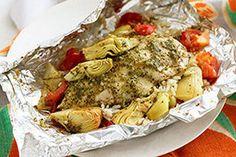 Foil-Pack Chicken & Artichoke Dinner