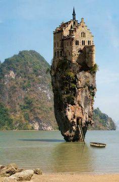Castle on a rock in Dublin, Ireland