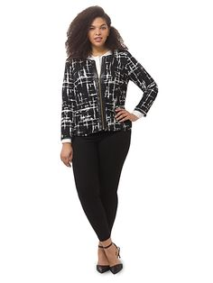 Louise Jacket In Lattice Noir by @IGIGI Available in sizes 12-32