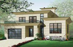 Détail du plan de Maison unifamiliale W3457