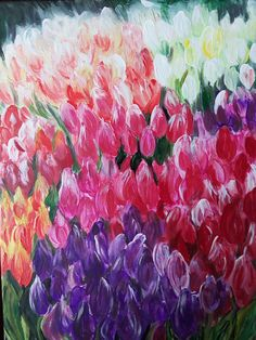 March of tulips 30x40 cm Original acrylic paintings on cotton canvas Flowers painting Interior Decor Living room Decor Gift by JoyArtUA on Etsy https://www.etsy.com/listing/511180205/march-of-tulips-30x40-cm-original