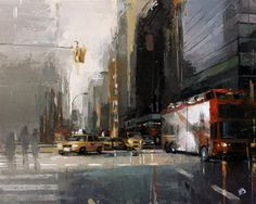 """Daily Paintworks - """"NYC Sightseeing Tour"""" - Original Fine Art for Sale - © Victor Bauer"""