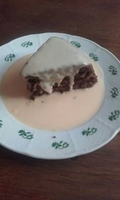 Kókuszos mikrós süti vaníliaöntettel Eggs, Pudding, Breakfast, Desserts, Food, Morning Coffee, Tailgate Desserts, Deserts, Custard Pudding