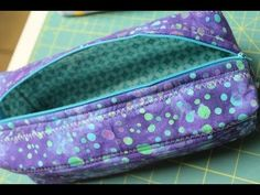Zippered Box Pouch Tutorial- How to install a zipper - YouTube