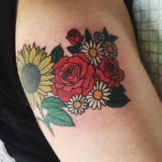 Added on the roses and daisies and coloured existing sunflower for dreamboat  Kayleigh ! Thank you  by laurenwinzer You can follow me at @JayneKitsch