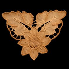 Vintage Lace Cutwork Embroidery Applique IV Hand-dyed and Hand-cut (Limited Quantities - Less than 5) sku# L0801  $5.00