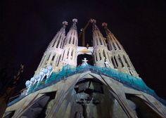 Sagrada Familia in Barcelona Spain Sagrada-Familia view by night