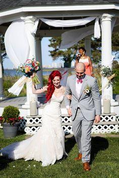 Becca & Joe | Sarah Murray Photography | Mermaid Wedding | Encore Events by Angie Gillis | Lighthouse Sound | Ocean City, MD | Ocean City Wedding | Colorful Wedding | Wedding Florals | Wedding Decor | Wedding Props |