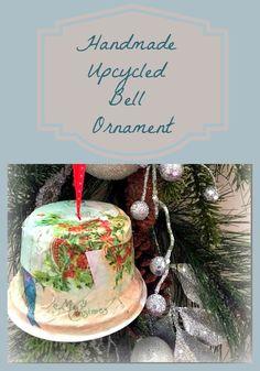 Handmade Christmas Ornament made from an Upcycled Yogurt Container! Homemade Christmas Gifts, Homemade Gifts, Handmade Christmas, Holiday Decorating, Decorating Ideas, Decor Ideas, Craft Ideas, Green Christmas, Winter Christmas