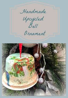 Handmade Christmas Ornament made from an Upcycled Yogurt Container!!! Easy and fun!